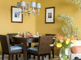 Yellow Dining Room Ideas Remarkable Small Dining Room Design Ideas With Dark Brown Rattan