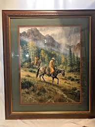 home interior cowboy pictures terry cowboys in the lithograph home interiors