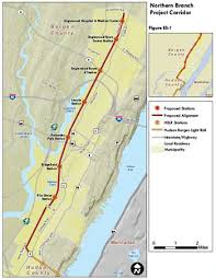 hudson bergen light rail map northern branch corridor project