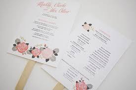 fan wedding programs template wedding programs fans lookup beforebuying