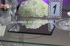 used wedding decorations for sale wedding centerpiece 40 40cm square mirror for candelabra base