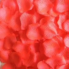 1000 coral rose petals artificial flower petals for wedding party