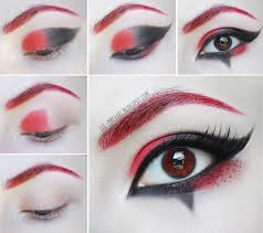 Halloween Devil Eye Makeup Halloween Makeup Tutorial Harley Quinn Beauty Angel Artstyle