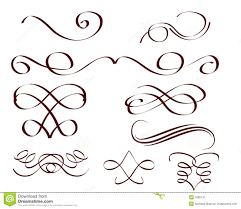 decorative scrolls stock image image 7685741