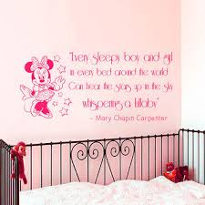 mickey mouse bedroom decor atp pinterest mickey wall decal quote minnie mouse vinyl from amazingdecalsart on etsy