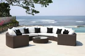 canape rond exterieur jardins et terrasses canape de jardin salon arrondi brun blanc
