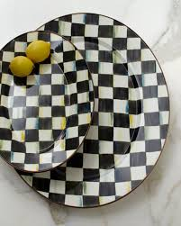 mackenzie childs l mackenzie childs courtly check oval platters