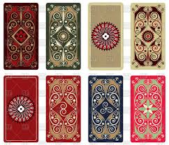 tarot cards ornament cards back design vector clipart
