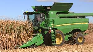 john deere combine in field pr energy