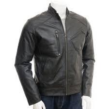 leather biker jacket men u0027s genuine leather biker jacket