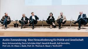 Dr Bade Audio Zuwanderung Eine Herausforderung Für Politik Und