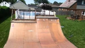 back yard mini ramp youtube