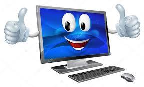 ordinateurs de bureau mascotte de l ordinateur de bureau image vectorielle krisdog