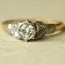 vintage gold diamond ring image of vintage gold engagement ring