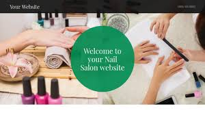 example 1 nail salon website template godaddy