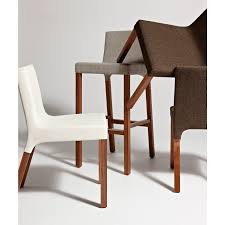 Blu Dot Furniture by Contemporary Chair Upholstered Walnut Hardwood Knicker