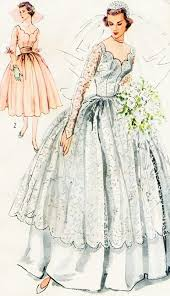 vintage wedding dress patterns 1940s beautiful bridal and bridesmaid dress wedding gown pattern