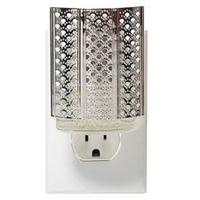 Yankee Candle Wall Sconce Moroccan Lantern Silver Night Light Scentplug Base Yankee Candle
