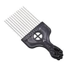afro comb black metal hair styling pik afro comb brush salon