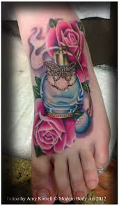 girly leg tattoo designs 42 best perfume tattoo designs images on pinterest perfume