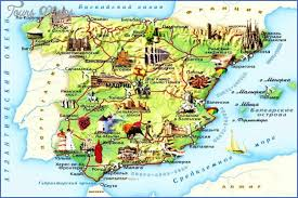 spain on a map spain map tourist attractions map travel vacations