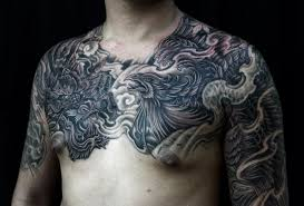 Chest And Half Sleeve - half sleeve to chest and chronic ink