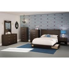 south shore step one full queen size headboard in gray oak 3137270
