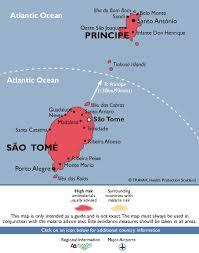 map of sao tome são tomé and príncipe malaria map fit for travel