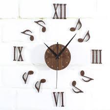 popular wall decor 3d clock music notes buy cheap wall decor 3d