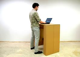How To Make A Cardboard Desk The Cardboard Standing Desk Stand Up For Creativity By Chairigami