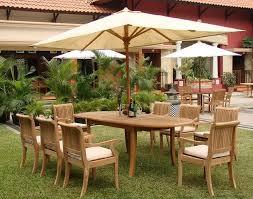 Teak Furniture Patio Grade A Teak 94 U0027 Wood Oval Outdoor Dining Table Patio Table
