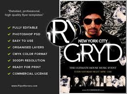 dj flyer template psd free creative genie
