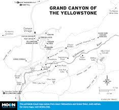 Grand Canyon On A Map Printable Travel Maps Of Wyoming Moon Travel Guides
