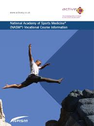 nasm prospectus personal trainer educational technology