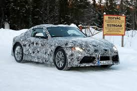 toyota supra 2018 toyota supra and bmw z5 roadster spy shots gtspirit