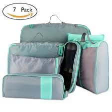 7 set packing cubes travel luggage organisers suitcase storage