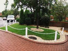 plastic upvc post and chain fencing driveway garden fence