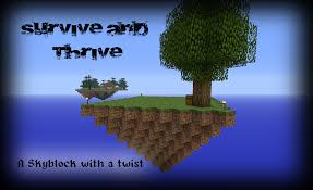 Skyblock Map Survive And Thrive Minecraft Map By Xbox Ds Gameboy On Deviantart
