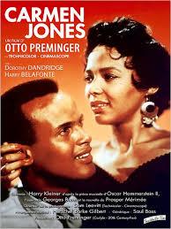 Avec Dorothy Dandridge, Harry Belafonte, Pearl Bailey, <b>Olga James</b> … - affiche-carmen-jones