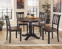 Round Dining Room Tables Owingsville Round Dining Room Table U0026 4 Side Chairs D580 02 4