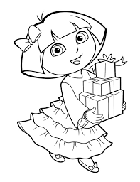 coloring pages com free dora the explorer coloring pages for toddlers http procoloring