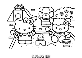 free printable hello kitty coloring pages for kids and online