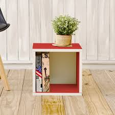 storage cubes in red and stackable cubby bookcase way basics