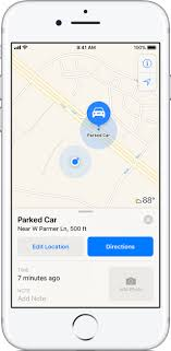 find maps how to find your parked car with maps on your iphone apple support