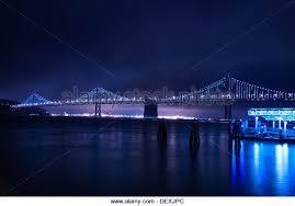 Bay Bridge Lights Bay Bridge Lights And San Francisco Stock Photos U0026 Bay Bridge