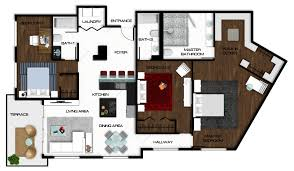 Cad Floor Plans by Autocad Floor Plan Rendered In Photoshop Rendered Floor Plans