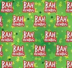 christmas wrapping paper wrap bah humbug