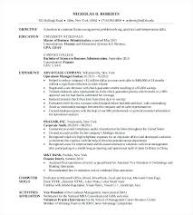 sample finance resume entry level collection of solutions sample