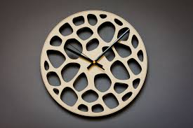 laser cut clock unique wall clocks wood wall clock