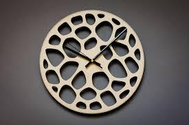 Unusual Wall Clocks by Laser Cut Clock Unique Wall Clocks Wood Wall Clock